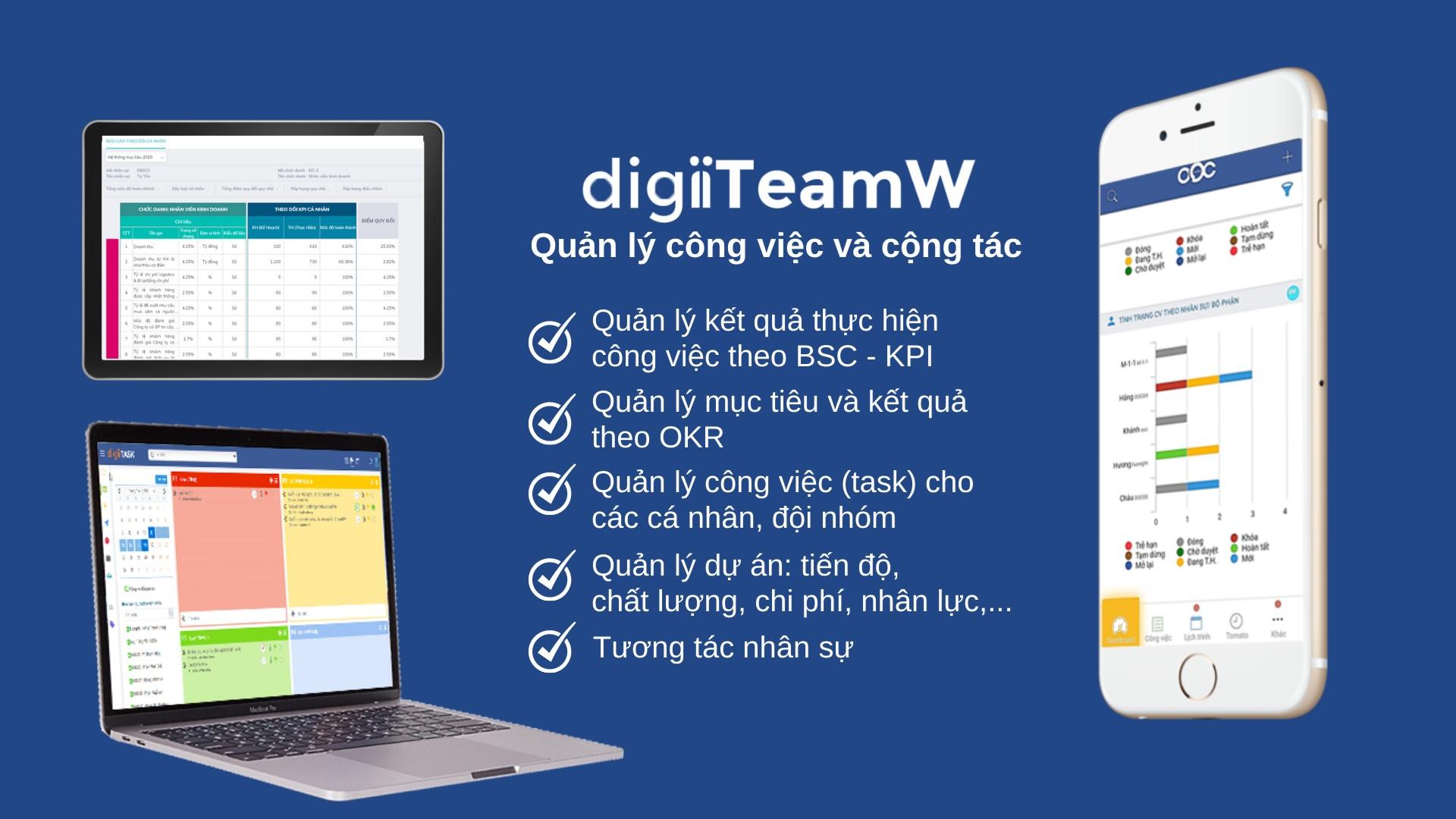 Phần mềm Quản lý Công việc và Cộng tác digiiTeamW